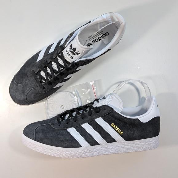 NEW Adidas Gazelle Solid Grey/White/Gold Metallic